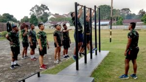 Yonko 462 Paskhas Melaksanakan Program Pembinaan Khusus Bagi Prajurit Yang Overweight