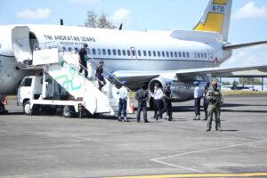 Latihan Penaganan Pesawat Udara Asing Setelah Pemaksaan Mendarat (Force down) di Bandara Sultan Hasanuddin