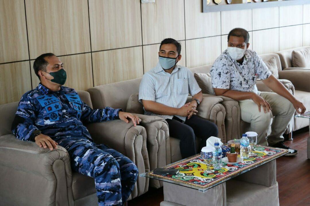 Danlanud Dhomber Terima Kunjungan Pimpinan Tribun Kaltim