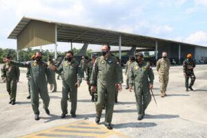 Kunker ke Lanud Roesmin Nurjadin, Kasau Tinjau Latma TNI AU-USPACAF