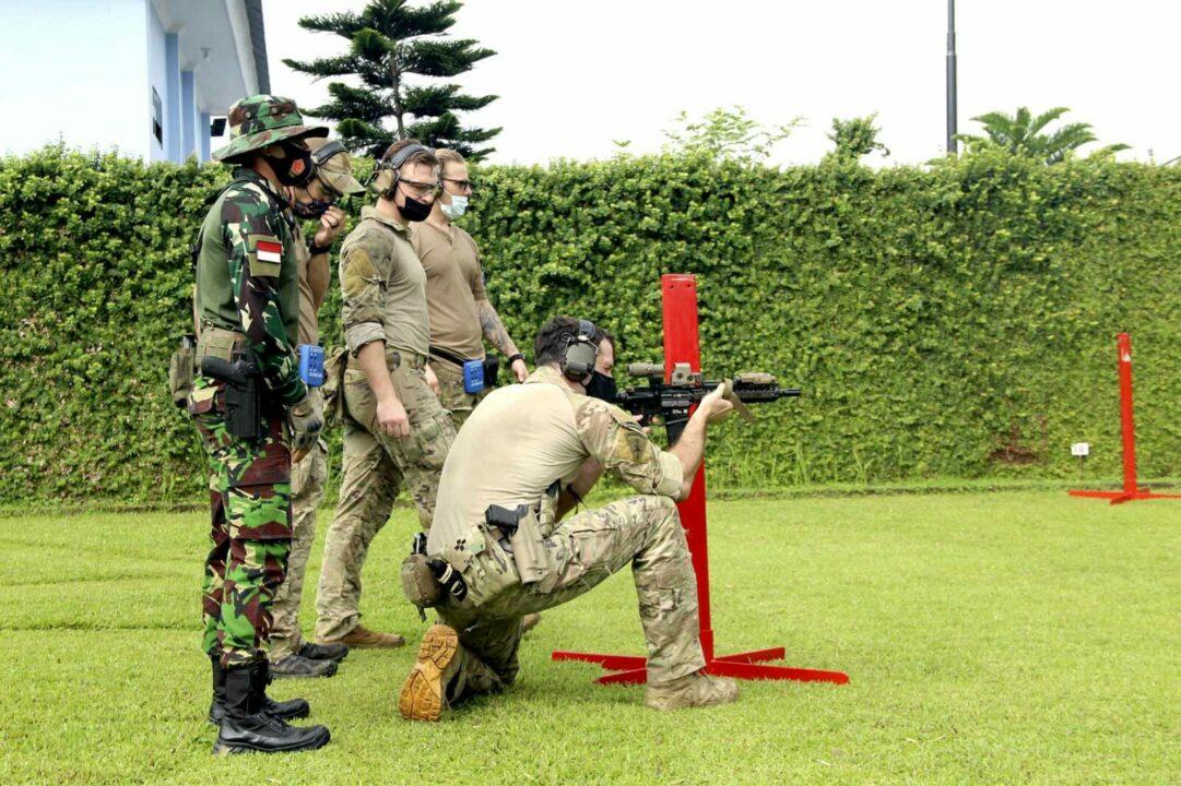 Latma Teak Spear Iron 2021, Korpaskhas TNI AU Dan US SOCPAC Latihan Menembak