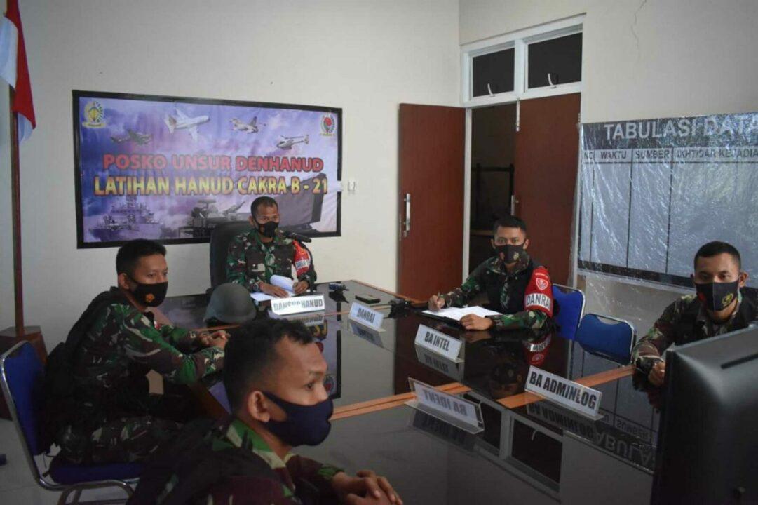 Denhanud 472 Paskhas melaksanakan Latihan Uji Siap Tempur (UST) Tingkat Baterai Combine Latihan Hanud Cakra B-21 Kosekhanudnas II