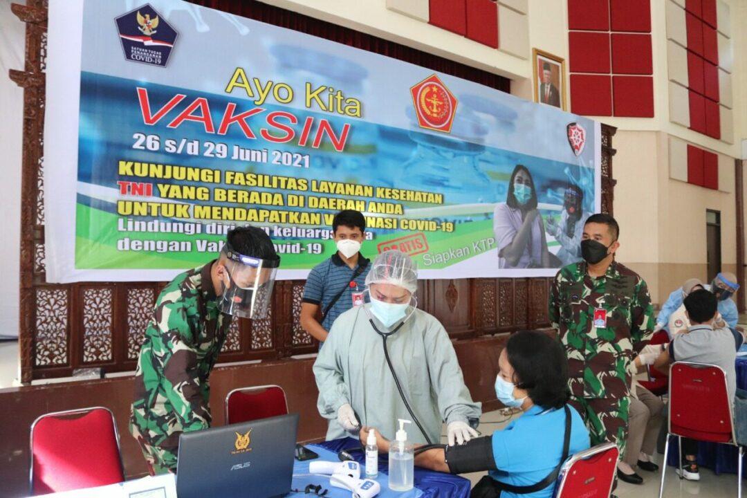 Klinik Pratama Kosekhanudnas II mendukung penuh pelaksanakan program Serbuan Vaksin Covid-19