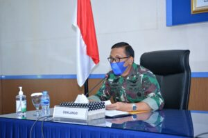 Danlanud Sultan Hasanuddin Ikuti Sidang Pantokhirdagab Catar AAU TA. 2021 Secara Vicon