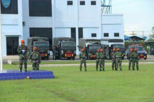 Danyonko 469 Dampingi Danwing III Paskhas Cek Kesiapan Latihan Puncak Wing III Paskhas