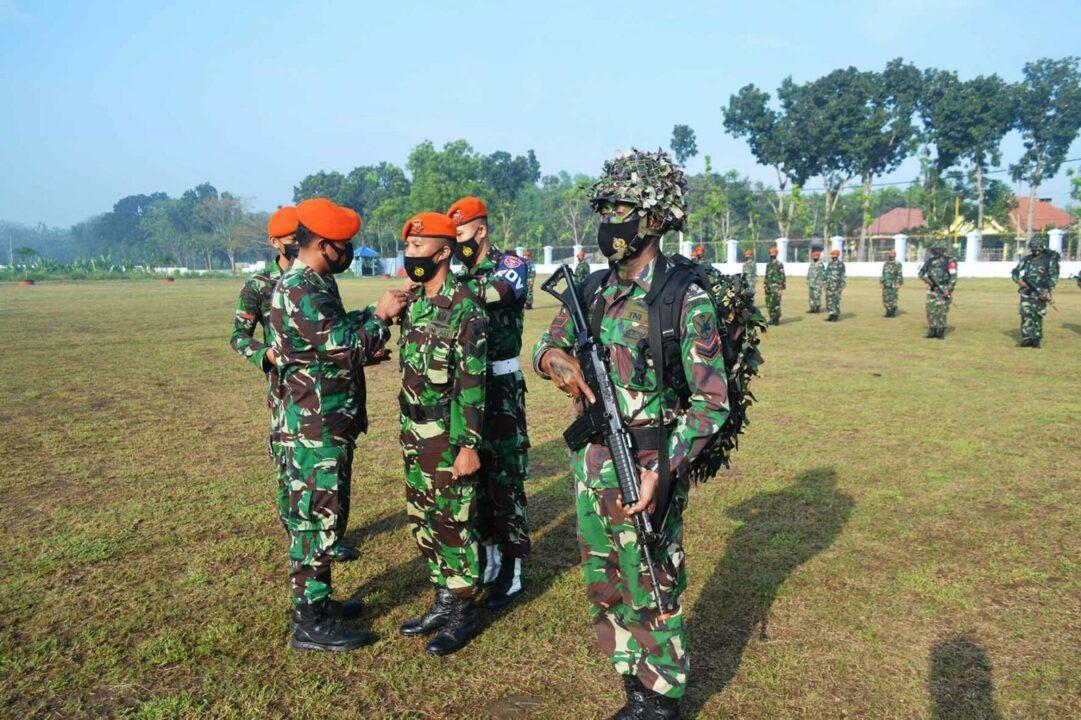"""Apel Pembukaan Latihan Tingkat Satuan """"Trisula Unggul 2021 Batalyon Komando 463 Paskhas Ta 2021"""