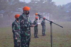 Apel Pembukaan Latihan Satuan Hardha Dedali Gesit Ta. 2021 Batalyon Komando 467 Paskhas