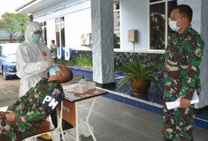 Antisipasi Penyebaran Covid 19 Lebih Luas, Lanud Husein Sastranegara Laksanakan Testing Dan Tracing.