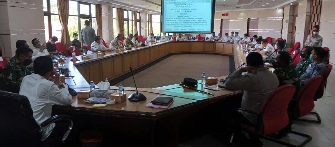 Danlanud Hnm Mengikuti Rapat Penegakan Protokol Kesehatan.
