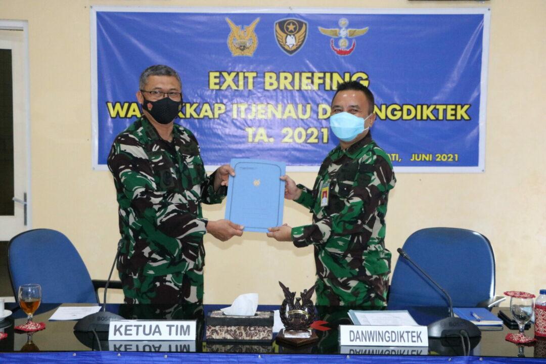 Exit Briefing dan Penyerahan Hasil Wasrikkap Itjenau di Wingdiktek