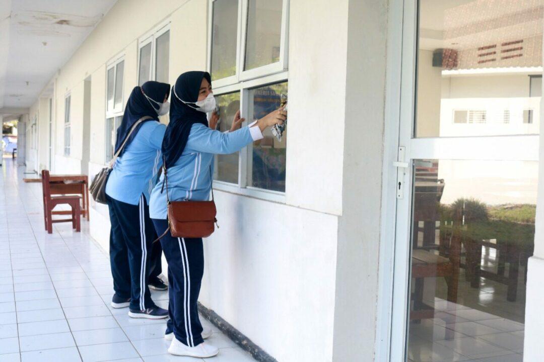 Kerja Bakti Lanud Wiriadinata Jelang Tahun Ajaran Baru Di SMK Angkasa