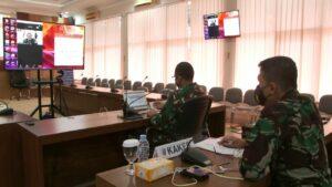anlanud Adisutjipto beserta staf ikuti Rakor Penanganan Covid 19 dan pelaksanaan PPKM di jajaran Kodiklatau