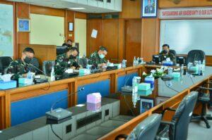 Asops Kasau Pimpin Rakor Evaluasi Satuan Gugus Penanganan Covid-19 Jajaran TNI AU