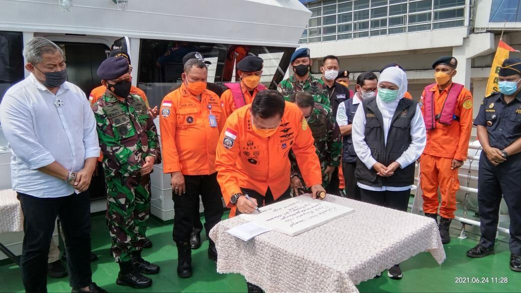 Danlanud Muljono menghadiri Pelaksanaan Peresmian Kapal Negara (KN) SAR 249 Permadi