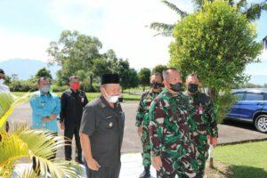 Danlanud Sutan Sjahrir Terima Kunjungan Bupati Agam Provinsi Sumatera Barat