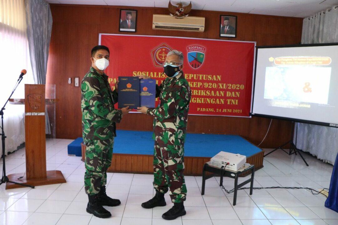 Tim Sosialisasi Keputusan Panglima TNI Dari Mabes TNI Kunjungi Lanud Sutan Sjahrir