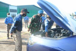 Apelkan Kendaraan Dinas, Komandan Lanud Raden Sadjad Periksa Satu Persatu