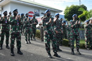 Acara Tradisi Purna Tugas Prajurit TNI Angkatan Udara di Lanud Raja Haji Fisabilillah