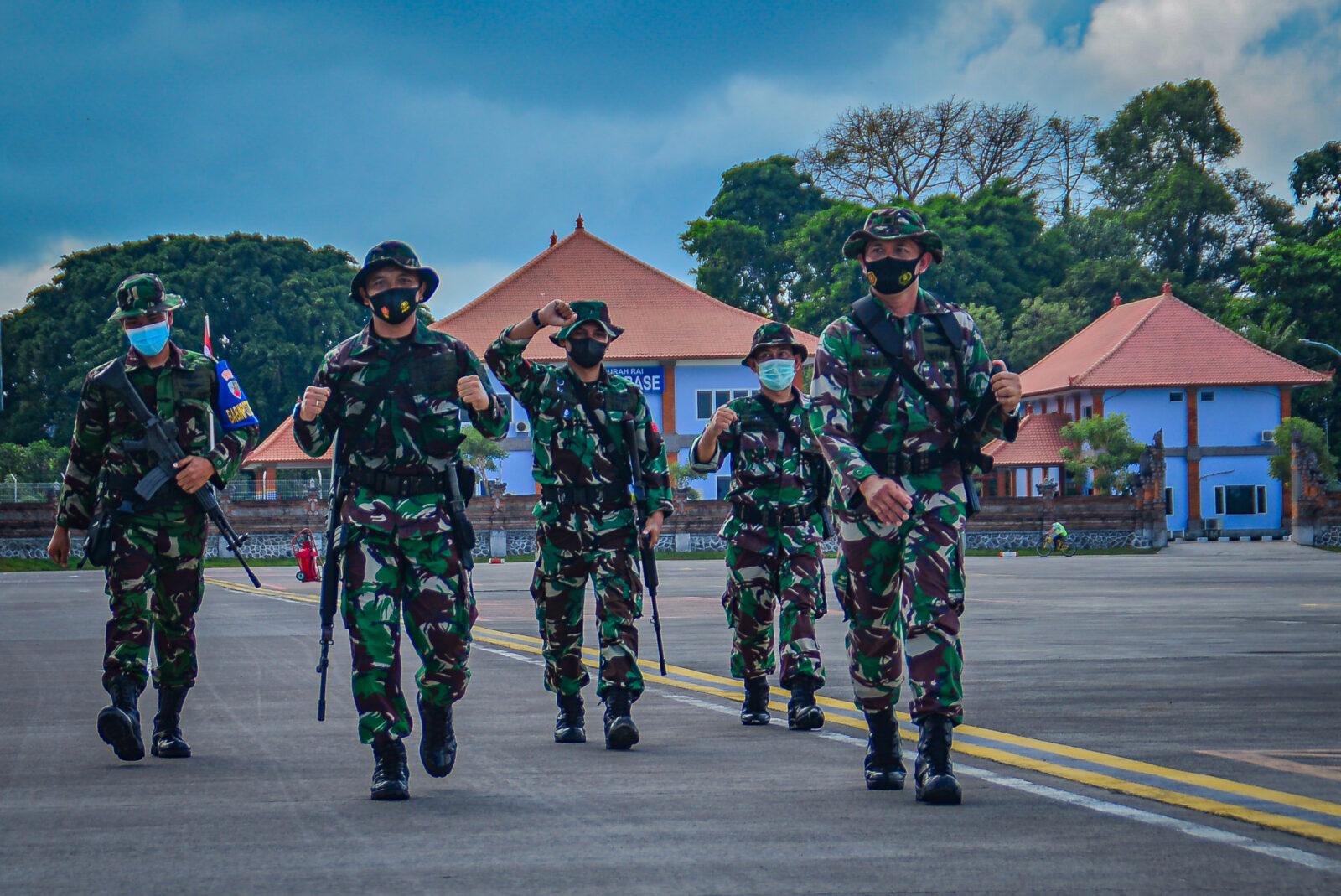 Latihan Hanlan Combine Patroli di Lanud I Gusti Ngurah Rai