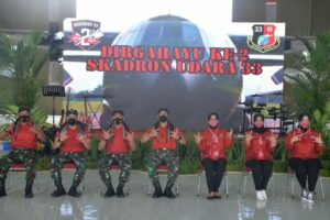Skadron Udara 33 Lanud Sultan Hasanuddin Peringati Ulang Tahun ke-2