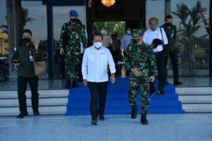 Danlanud Sultan Hasanuddin Sambut Menteri Kelautan dan Perikanan RI