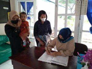 Wujudkan Keluarga Sehat, Posyandu Kepodang Lanud Mus Laksanakan Intervensi Dini Tumbuh Kembang Balita.