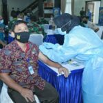 Serbuan Vaksin Astra Zeneca ke 2 untuk PNS, Honorer dan Keluarga Besar Mabesau.