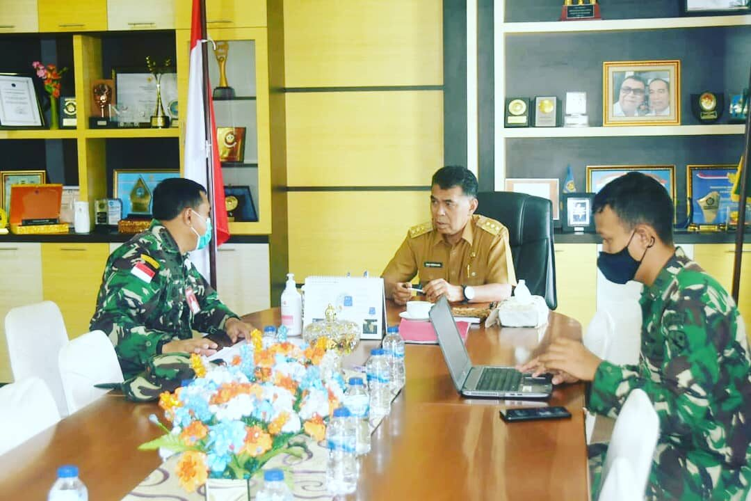 Lanud Raden Sadjad Laksanakan Rapat Koordinasi Aset TNI AU di Pulau Subi Bersama Bupati Natuna