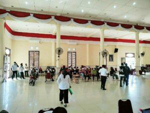 Babinpotdirga Lanud Raden Sadjad Monitoring Prokes Vaksinasi Massal di Natuna