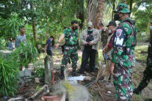 Danlanud Raden Sadjad Tinjau Kembali Batas Tanah Landasan Ex Jepang di Pulau Subi