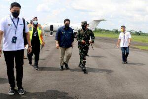 Kunjungan Kerja Menteri BUMN Erick Thohir Ke Tasikmalaya Disambut Danlanud Wiriadinata