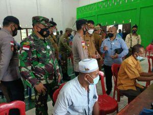Sosialisasi Vaksin Covid-19 Antar Pulau, Bupati Natuna di Dampingi Danlanud Raden Sadjad