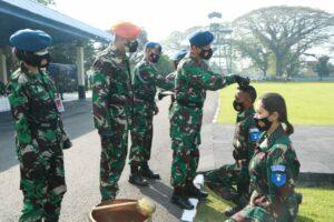62 Siswa Semaba PK Wanita TNI AU Angkatan 47 mulai melaksanakan pendidikan.