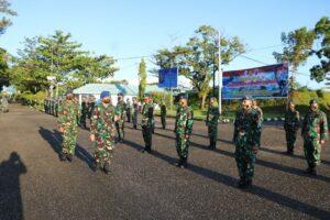 Komandan Lanud Sutan Sjahrir Bacakan Sambutan Kasau Pada Upacara Peringatan HUT Koopsau Ke-70