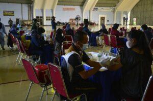 Lanud Halim Gelar Vaksinasi Tahap II Untuk Keluarga TNI AU