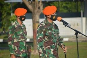Pemberangkatan Satgas Pamhan Alutsista 215 Congot
