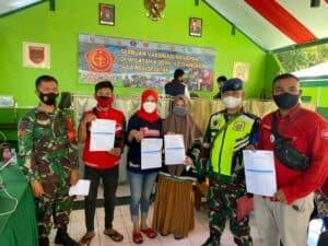 Dukung Serbuan Vaksin Nasional, TNI AU Lanud Sultan Hasanuddin Gelar Vaksinasi di Kab. Pangkep Sulawesi Selatan