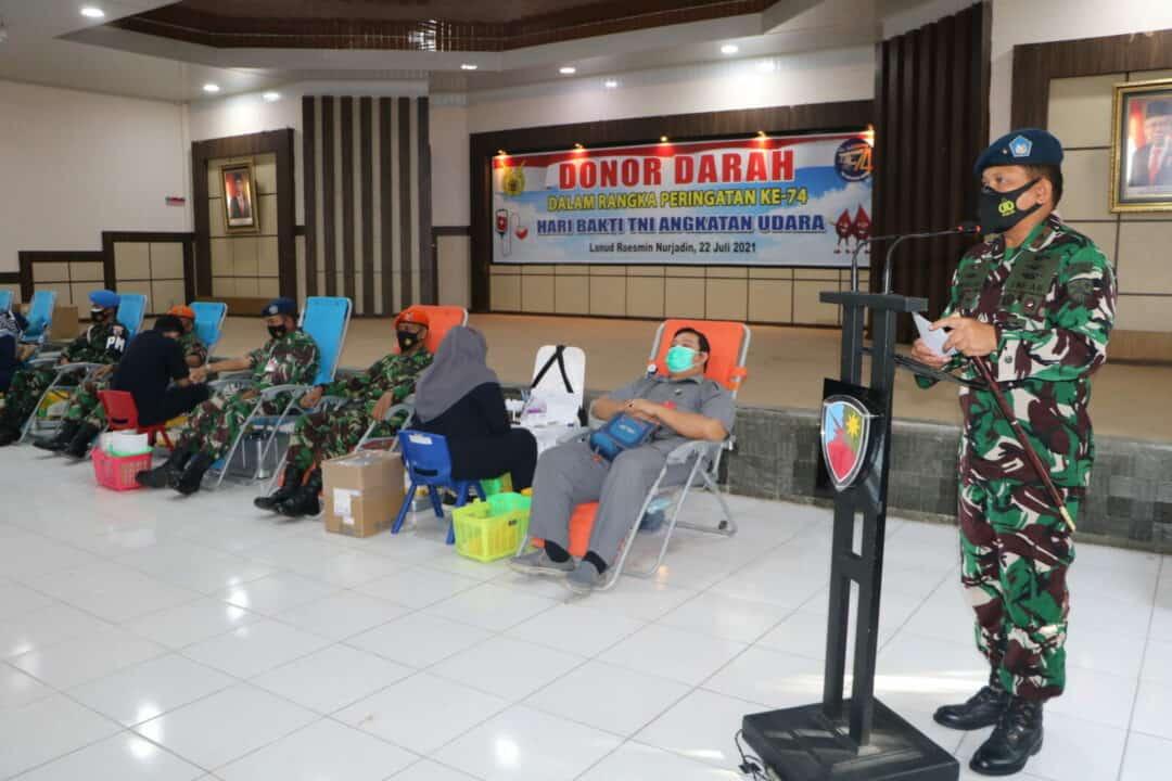 22. Personel TNI AU Di Lanud Rsn Kucurkan Darah Segar 3