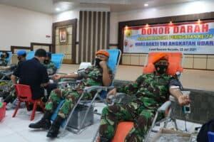 22. Personel TNI AU Di Lanud Rsn Kucurkan Darah Segar 8