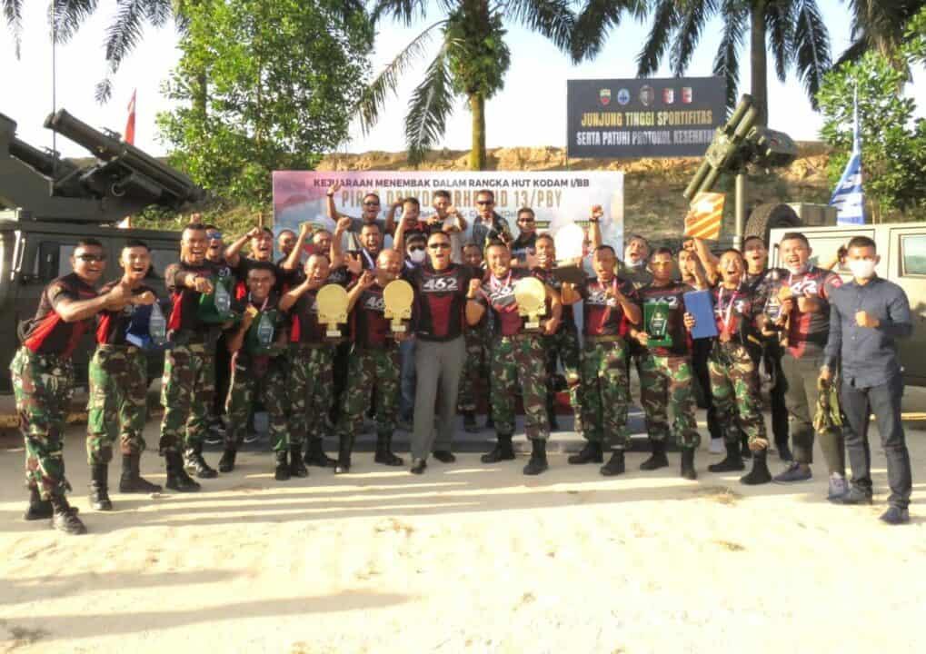 6. Yonko 462 Paskhas Sapu Bersih Kejuaraan Menembak Arhanud 2