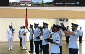 Siswa Dikma Semata PK ke-80 Ikuti Penutupan Secara Vicon di Pusdiklat Paskhas