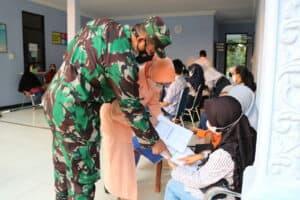 Danlanud Pangeran M. Bun Yamin Tinjau Langsung Serbuan Vaksinasi Bagi Siswa/i SMP Angkasa