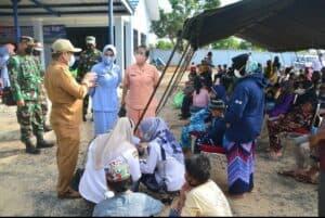 Peduli Rakyat Banua, Lanud Sjamsudin Noor Gelar Bakti Sosial Memperingati Hari Bakti TNI AU Ke-74 Tahun 2021