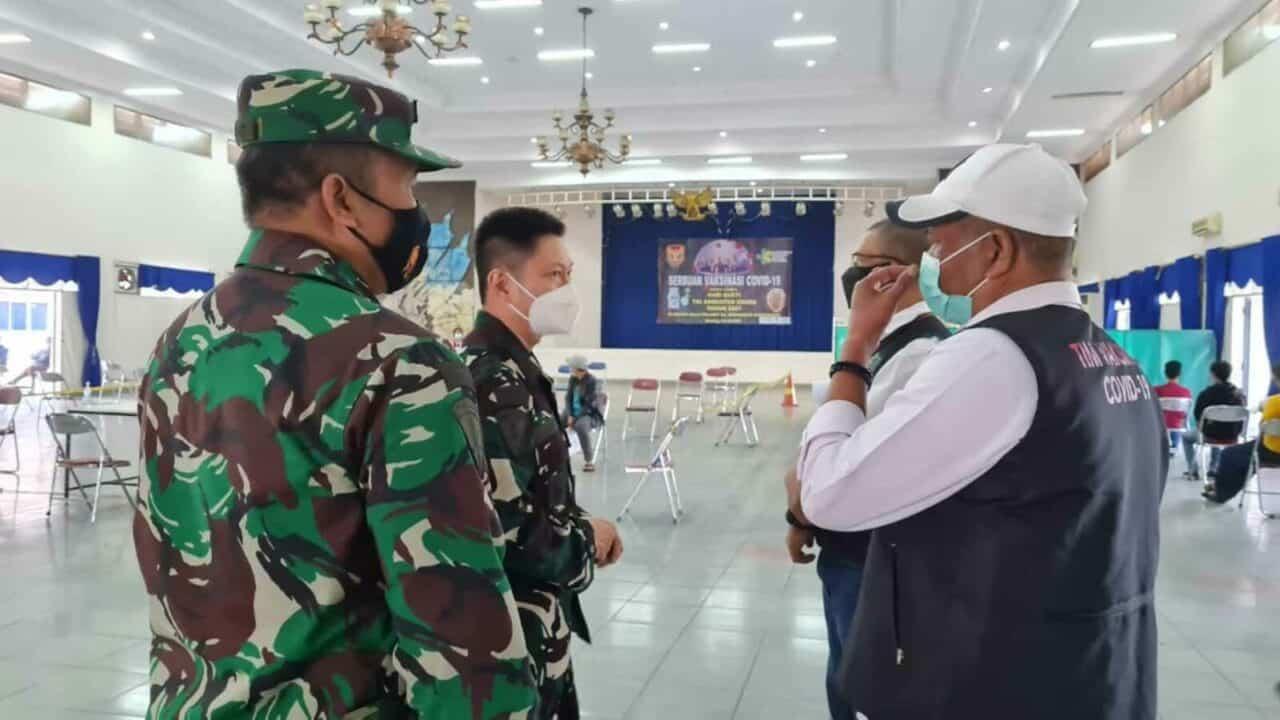 Satgas Covid-19 Kabupaten Bandung Pantau Pelaksanaan Serbuan Vaksin Covid-19 di Korpaskhas