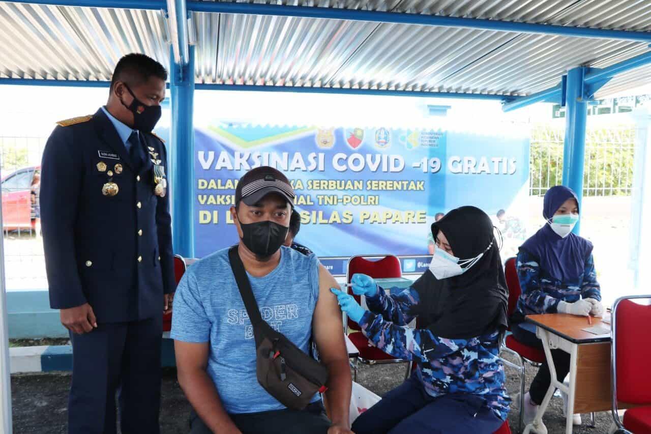Sukseskan PON XX, Lanud SPR Laksanakan Serbuan Vaksin ke Venue