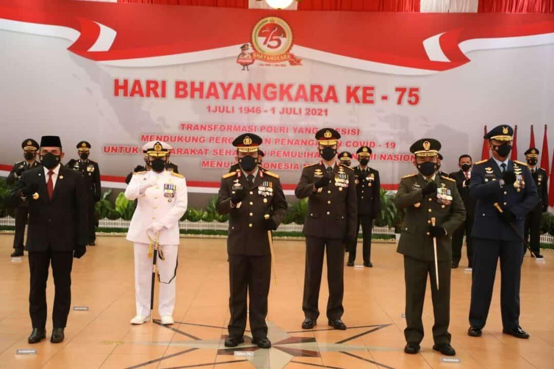 Panglima Kosekhanudnas III Menghadiri Upacara HUT ke-75 Bhayangkara