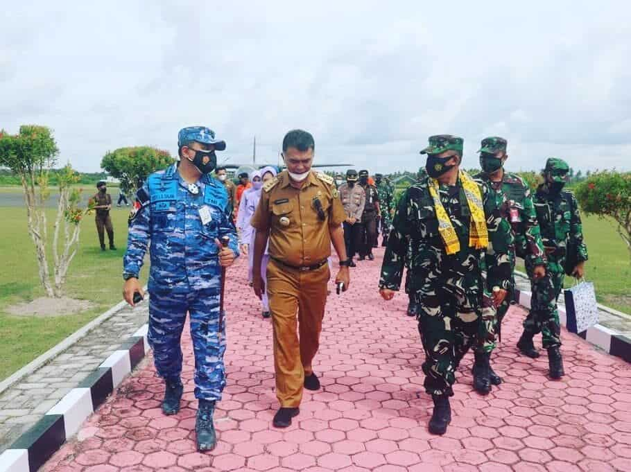 Danlanud Raden Sadjad Sambut Pangkosekhanudnas I di Natuna