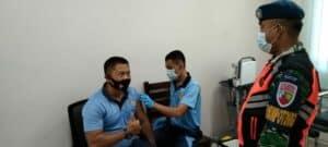 Babinpotdirga TNI AU Lanud RSA Bersinergi Bersama Bhabinkamtibmas, Terus Monitoring Serbuan Vaksinasi Covid-19 Massal di Natuna