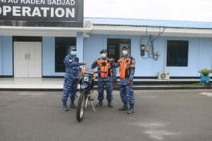Danlanud Raden Sadjad serahkan 1 Unit Sepeda Motor Dinas Baru Kepada Babinpotdirga