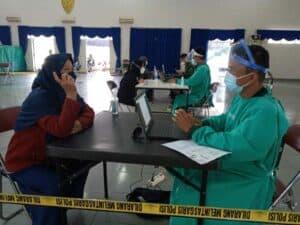 Pusdiklat Paskhas Hari Ini Gelar Serbu Vaksinasi di Gedung Balai Prajurit R.A Wiriadinata Korpaskhas Bandung